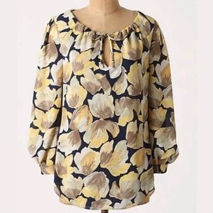 Meadow Rue ANTHRO | Long Sleeve Petal Print Top 4